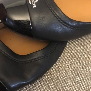 Coach Shoes - Coach Black Chelsea Ballerina Flats SZ 9.5